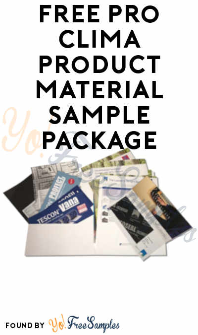 FREE Pro Clima Product Material Sample Package