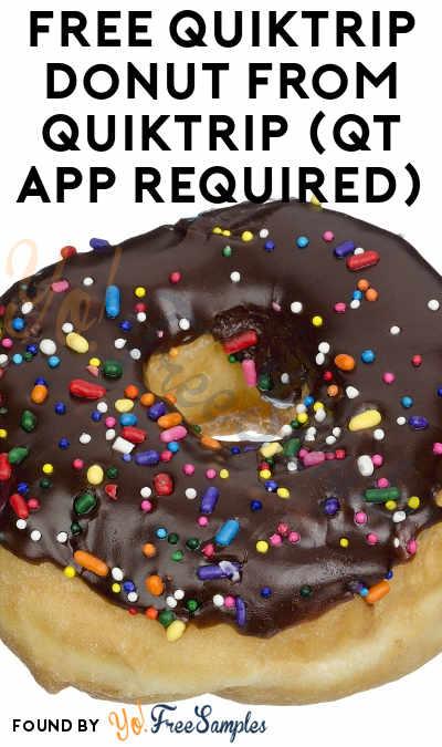 FREE QuikTrip Donut From QuikTrip (QT App Required)