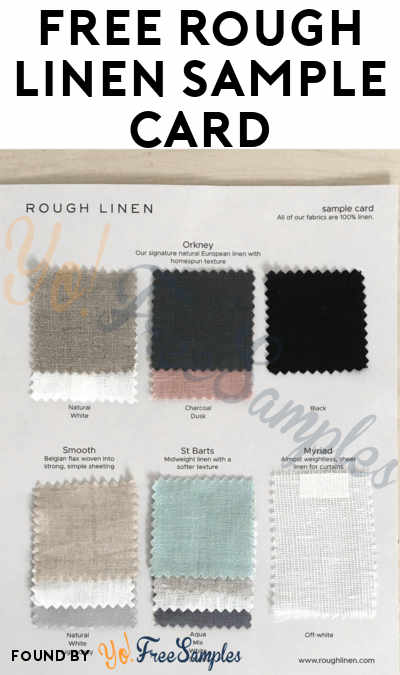 FREE Rough Linen Sample Card