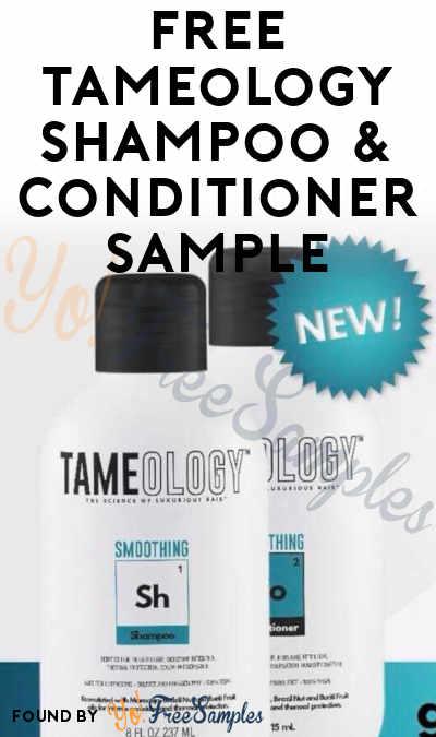 FREE Tameology Shampoo & Conditioner Sample