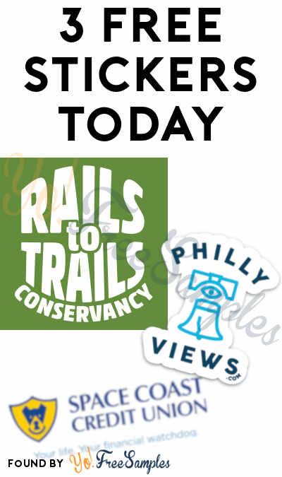 3 FREE Stickers Today: Philly Views Sticker, Rails to Trails Sticker & SCCU Watchdog Bumper Sticker