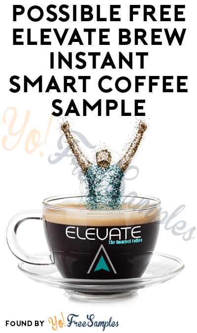 Possible FREE Elevate Brew Instant Smart Coffee Sample