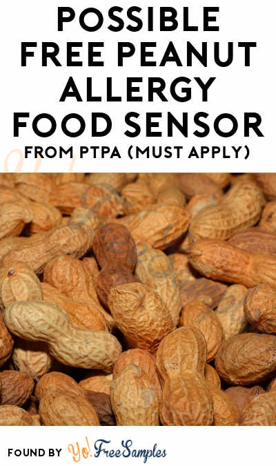Possible FREE Peanut Allergy Food Sensor From PTPA (Must Apply)
