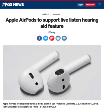 Apple active listening earbuds