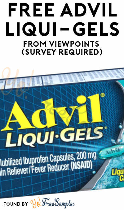 FREE Advil Liqui-Gels From ViewPoints (Survey Required)