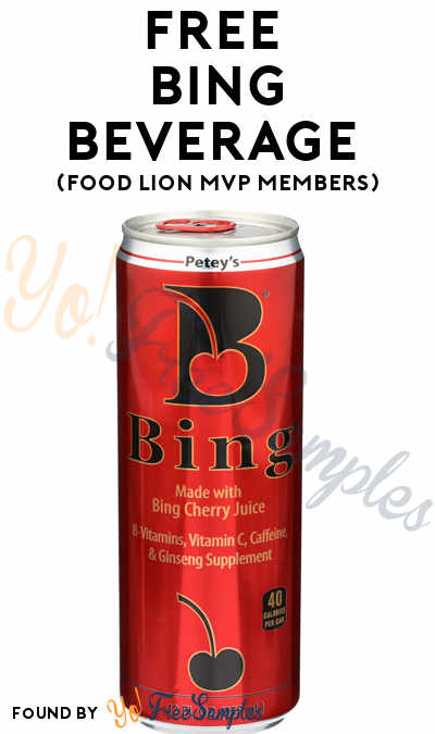 FREE Bing Beverage (Food Lion MVP Members)