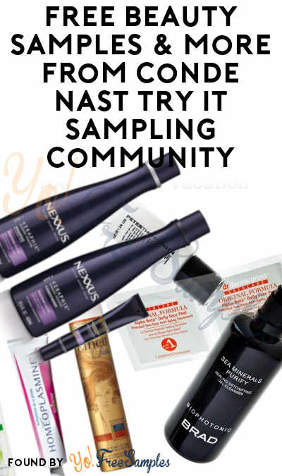 Possible FREE Beauty Samples & More From Conde Nast Try It Sampling Community [Verified Received By Mail]
