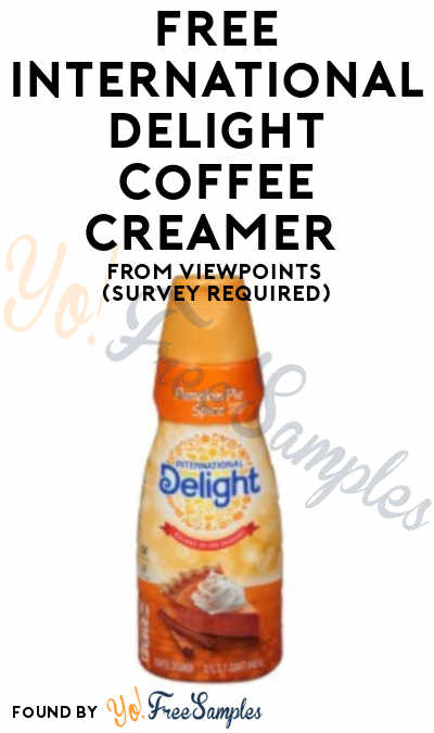 FREE International Delight Coffee OREO Cookie or Pumpkin Pie Spice Creamer From ViewPoints (Survey Required)