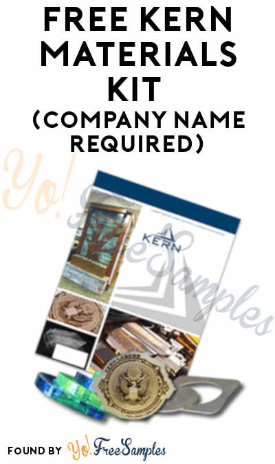 FREE Kern Materials Kit (Company Name Required)