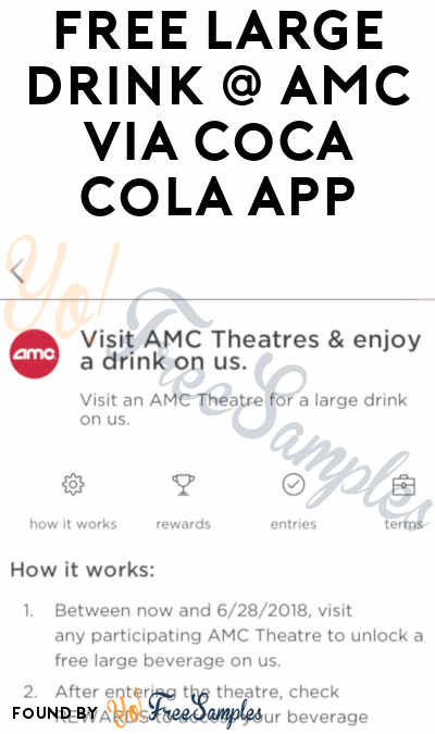 FREE Large Drink At AMC Theaters via Coca-Cola Mobile App