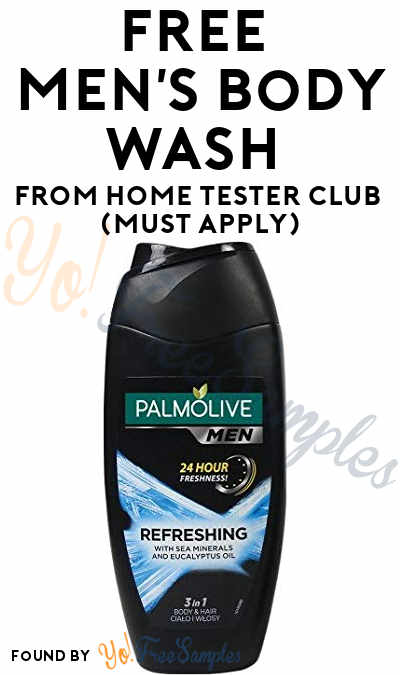 FREE Men's Body Wash From Home Tester Club (Must Apply)