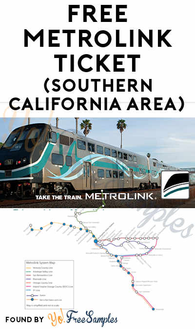 FREE Metrolink Ticket (Southern California Area)