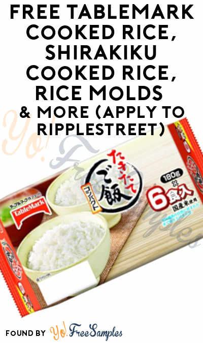 FREE TableMark Cooked Rice, Shirakiku Cooked Rice, Rice Molds & More (Apply To RippleStreet)