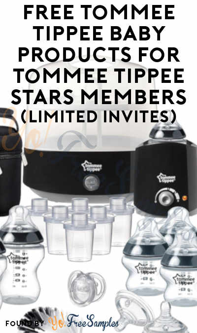FREE Tommee Tippee Baby Products For Tommee Tippee Stars Members (Limited Invites)
