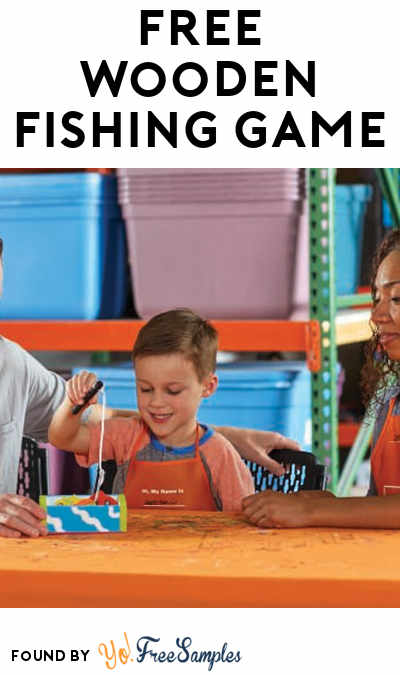 FREE Wooden Fishing Game At Home Depot on July 7th 2018 9AM-12PM