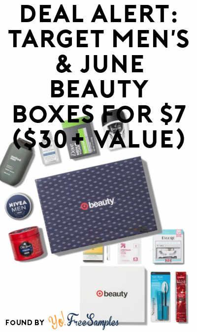 DEAL ALERT: Target Men's & June Beauty Boxes For $7 ($30+ Value)