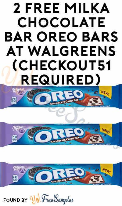 2 FREE Milka Chocolate Bar Oreo Bars At Walgreens (Checkout51 Required)