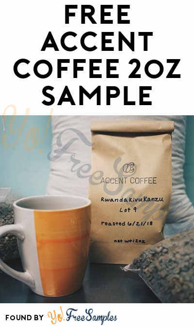 FREE Accent Coffee 2oz Sample