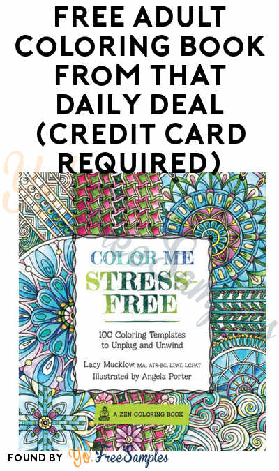 FREE Adult Coloring Book From That Daily Deal (Credit Card Required)