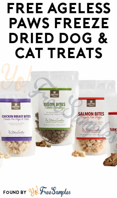 FREE Ageless Paws Freeze Dried Dog & Cat Treats