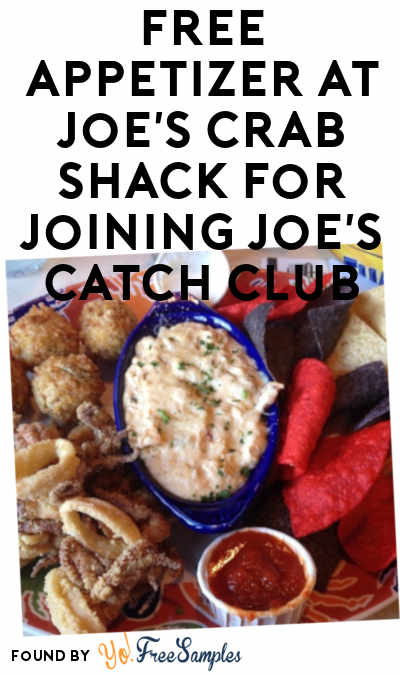 FREE Appetizer At Joe's Crab Shack For Joining Joe's Catch Club