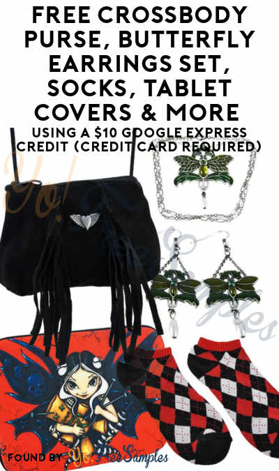 FREE Black Suede Purse, Clutch, Cosmetic Bag, Butterfly Earrings Set, Socks, Tablet Covers & More Using A $10 Google Express Credit (Credit Card Required)
