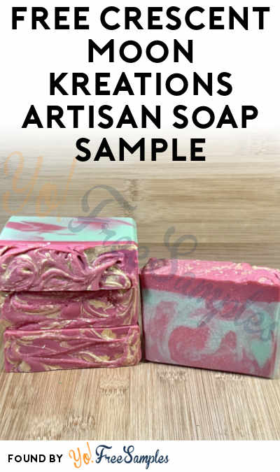 FREE Crescent Moon Kreations Artisan Soap Sample