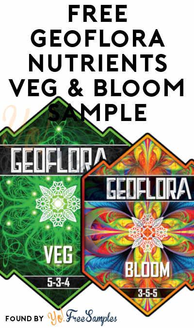 FREE Geoflora Nutrients Veg & Bloom Sample