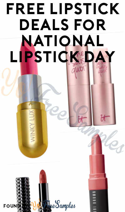 12 FREE Lipstick Deals For National Lipstick Day July 29th