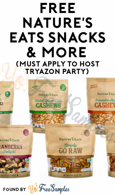FREE Nature's Eats Snacks & More (Must Apply To Host Tryazon Party)
