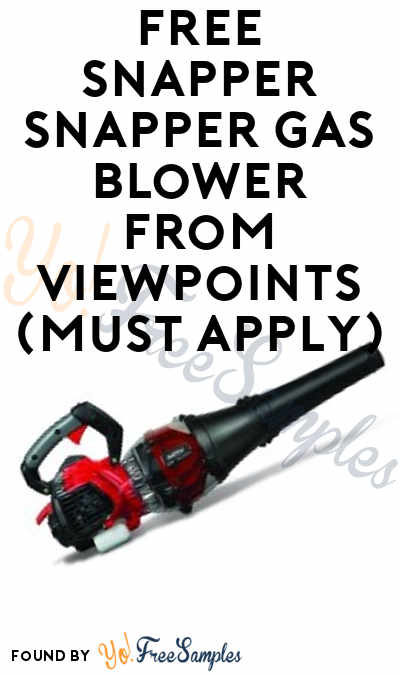 FREE Snapper Gas Blower From ViewPoints (Must Apply)