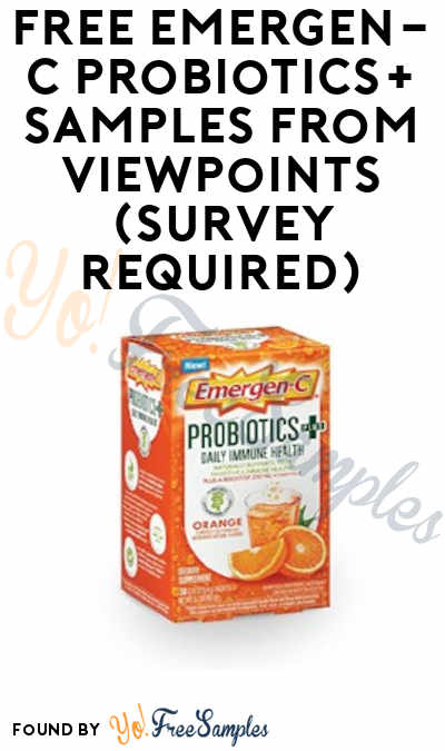 FREE Emergen-C Probiotics+ Samples From ViewPoints (Survey Required)
