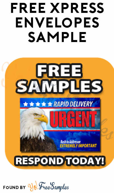 FREE Xpress Envelopes Sample (Company Name Required)