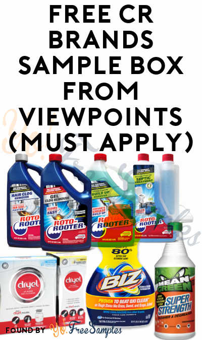 FREE CR Brands Sample Box From ViewPoints (Must Apply)