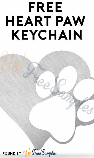 FREE Stainless Steel Heart Paw Keychain [Verified Received By Mail]