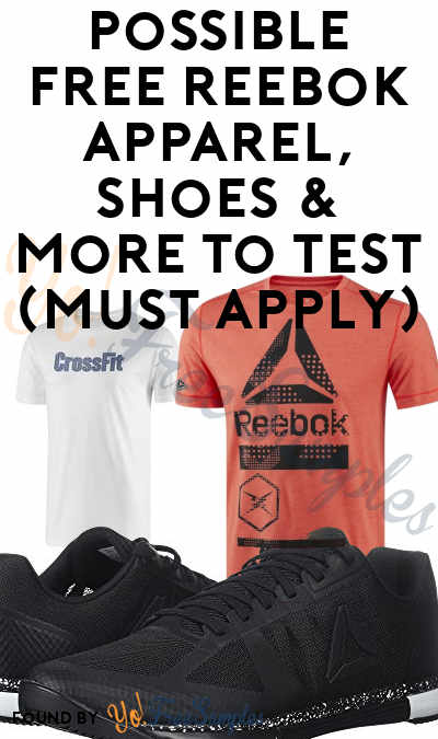 Possible FREE Reebok Apparel, Shoes & More To Test (Must Apply)