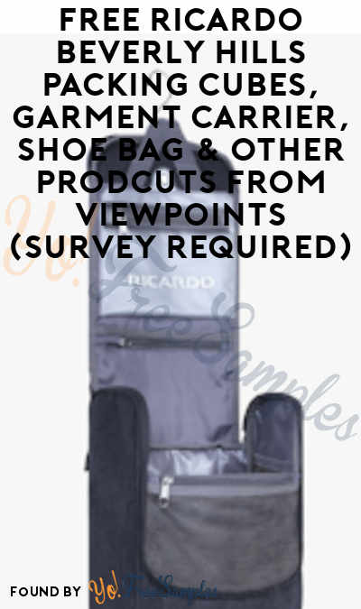 FREE Ricardo Beverly Hills Packing Cubes, Garment Carrier, Shoe Bag & Other Prodcuts From ViewPoints (Survey Required)