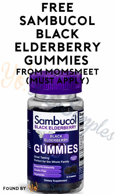 FREE Sambucol Black Elderberry Gummies From MomsMeet (Must Apply)