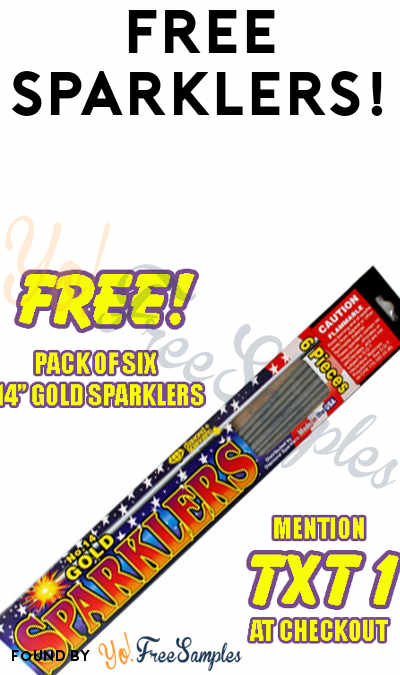 6 FREE Gold Sparklers (Not Accepted At Stands Or Tents)