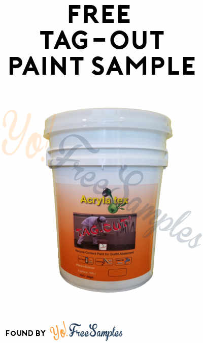 FREE Tag-Out Paint Sample (Company Name Required)