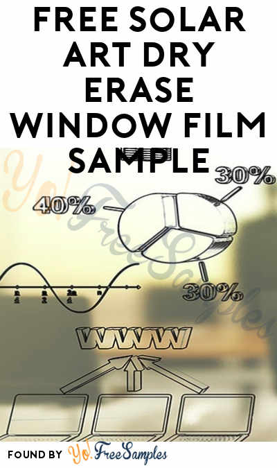FREE Solar Art Dry Erase Window Film Sample