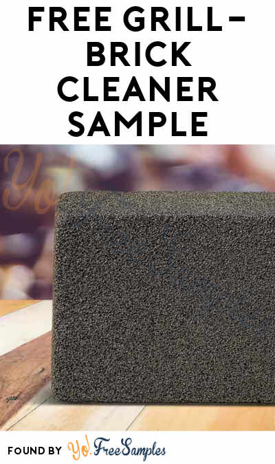 FREE GRiLL-BRiCK Cleaner Sample (Company Name Required)