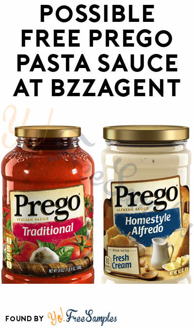Possible FREE Prego Pasta Sauce At BzzAgent
