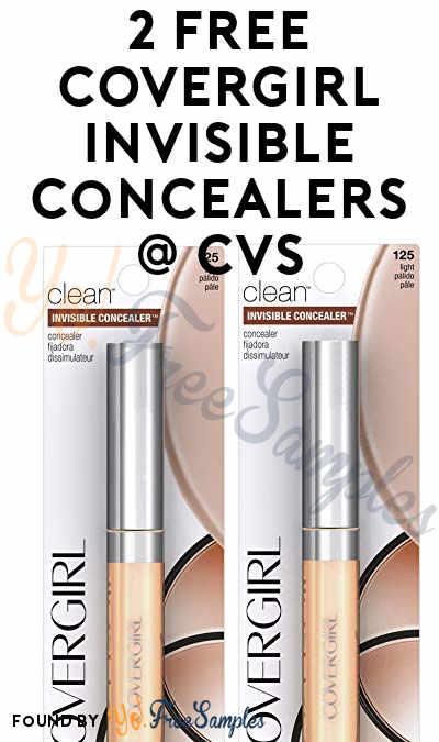 2 FREE COVERGIRL Invisible Concealers At CVS (Coupons Required)