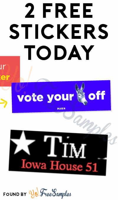 2 FREE Stickers Today: Vote Your Donkey Off Bumper Sticker & Tim Knutson For Iowa Bumper Sticker