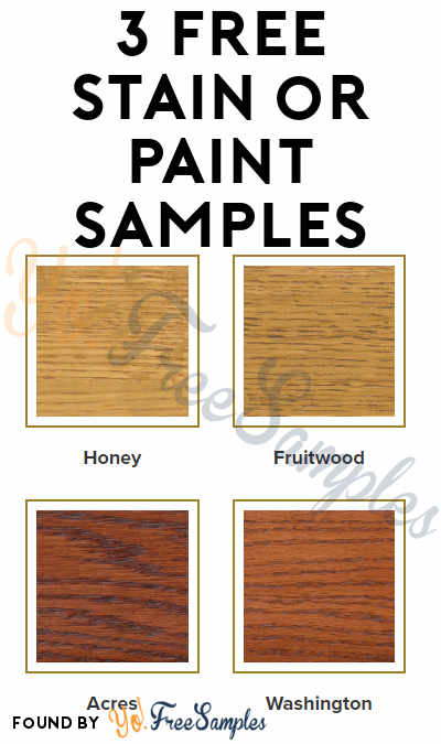 3 FREE Stain or Paint Samples