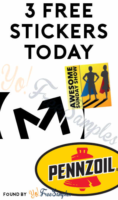 3 FREE Stickers Today: Momentum Ski Camp Sticker, Pennzoil Oil Change Stickers & Awesome Sunday Show Sticker