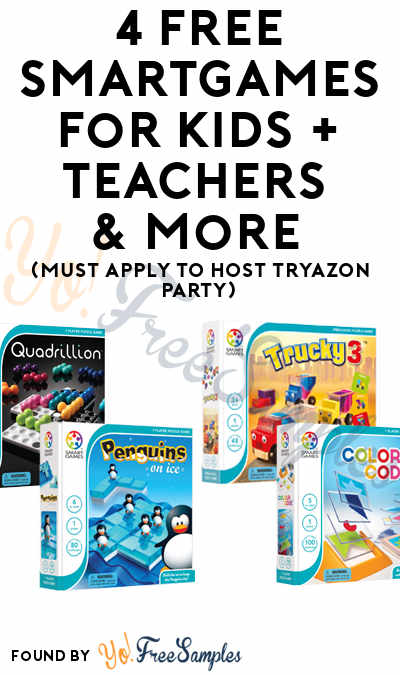 4 FREE SmartGames For Kids + Teachers & More (Must Apply To Host Tryazon Party)