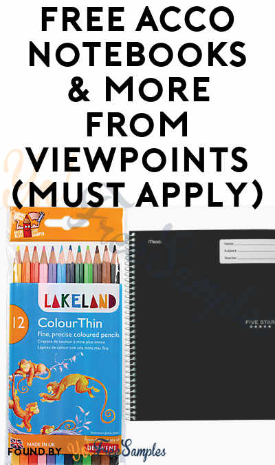 FREE ACCO Notebooks & More From ViewPoints (Must Apply)