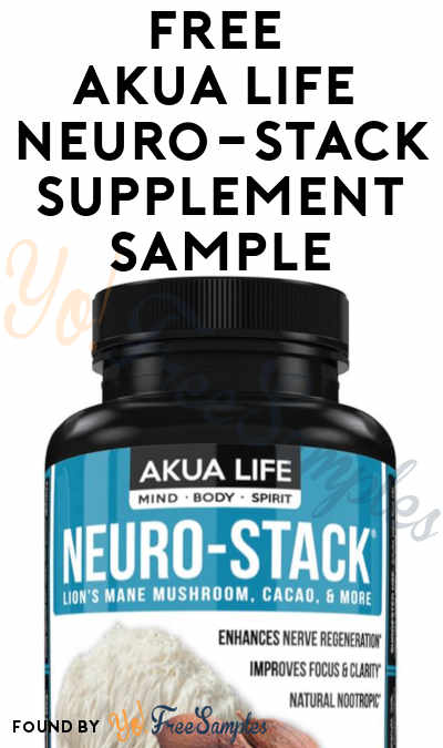 FREE Akua Life Neuro-Stack Supplement Sample (Facebook Message Required) [Verified Received By Mail]
